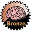 title= The Brainiac   Awarded for finding 2 or more Difficulty 5 caches   ozone68 has 3 and needs 1 more to go up a level