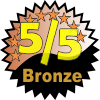 title= The Adventurous Cacher: Awarded for finding 1 or more caches with a Difficulty/Terrain rating of 5/5 | ozone68 has 1 and needs 1 more to go up a level