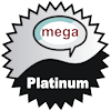 title= The Mega Social Cacher  Awarded for attending 1 or more Mega event caches  steffihele has 4 and needs 1 more to go up a level