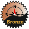 title=The North wind Cacher   Awarded for finding 125 or more caches on a bearing of North from home base   KW Buccaneer has 210 and needs 40 more to go up a level