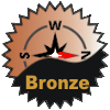 title=The West wind Cacher   Awarded for finding 125 or more caches on a bearing of West from home base   KW Buccaneer has 174 and needs 76 more to go up a level