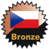 title= Czechia Cacher   Awarded for finding caches in a percentage of states in Czechia   steffihele has 14% (2 of 14 states) and needs 1% more to go up a level