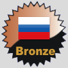 title= Russia Cacher    Awarded for finding caches in a percentage of states in Russia       RNKBerlin has 1% (1 of 83 states) and needs 14% more to go up a level