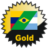 title=The South America  Continent Cacher:    Awarded for finding caches in a percentage of Countries on the South America   Continent   RNKBerlin Has 25% (3 of 23 countries) and needs 5% more to go up a level