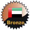 title= United Arab Emirates Cacher    Awarded for finding caches in a percentage of states in United Arab Emirates       on4bam has 14% (1 of 7 states) and needs 1% more to go up a level