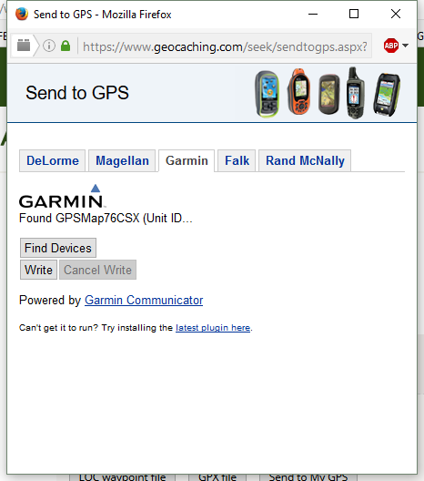 Can't connect Garmin 76CsX to laptop  - GPS - Geocaching Forums
