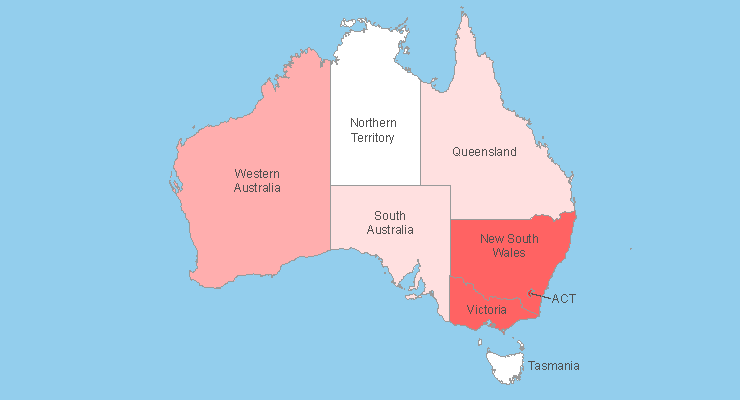 Australian States cached in