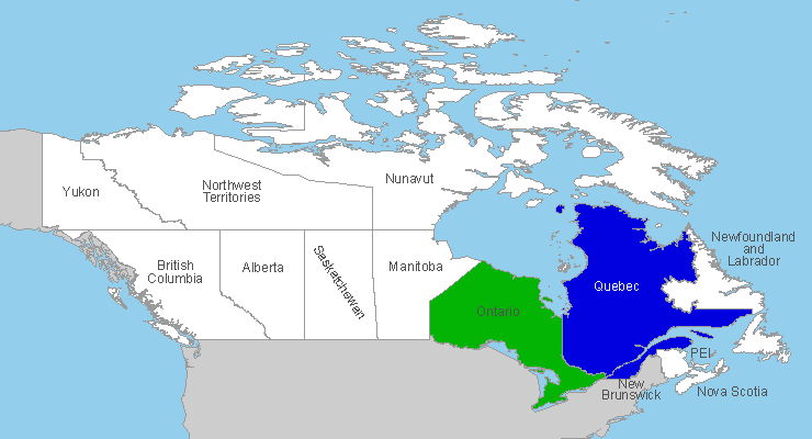 Canadian Provinces cached in